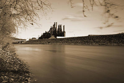 Bethlehem Steel Along The Lehigh Art Print