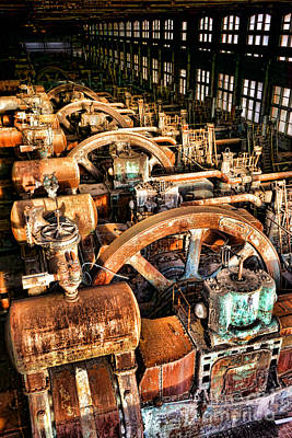 Machinery Photograph - Bethlehem Steel Blower House by Olivier Le Queinec