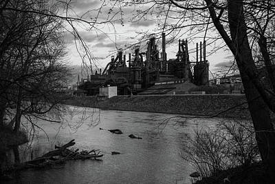 Photograph - Bethlehem Steel Bw by Jennifer Ancker