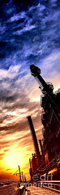 Chimney Photograph - Bethlehem Steel Glory by Olivier Le Queinec