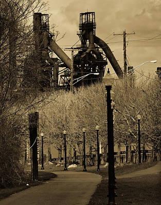 Bethlehem Steel Mill Print by Luis Lugo