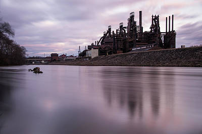 Pennsylvania Photograph - Bethlehem Steel Sunset by Jennifer Ancker