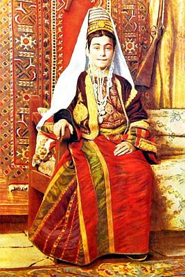 Painting - Bethlehem Traditional Dress by Munir Alawi