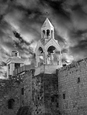 Photograph - Bethlehem With Cloudy Sky by Munir Alawi
