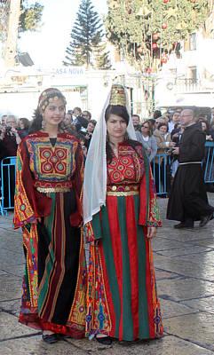 Bethlehemites In Traditional Dress Original by Munir Alawi
