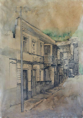 Tbilisi Drawing - Bethlemi Stairs-street by Anastasia Logvinenko