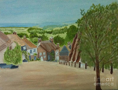 Painting - Gold Hill, Shaftesbury Dorset S W England by Rod Jellison