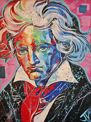 Painting - Beethoven by Jay V Art