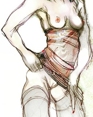 Painting - Beth's Pretty Dress by Carolyn Weltman