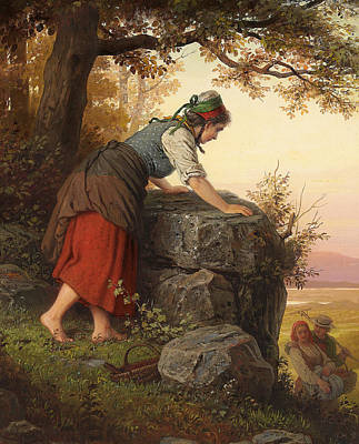 Hearts On Trees Painting - Betrayed by Johann Georg Meyer