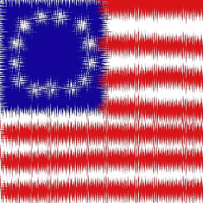 Photograph - Betsy Ross 1776 Flag Abstract by Bill Owen