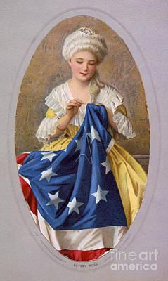 Betsy Ross, American Flag Design Art Print
