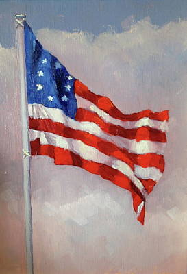 Betsy Ross Painting - Betsy Ross Flag by Betty Ann Morris