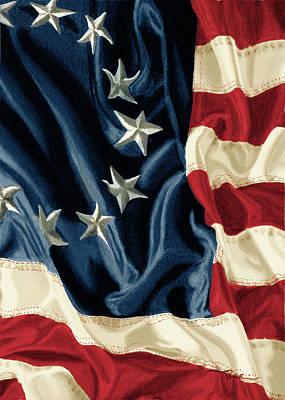 Betsy Ross Flag Art Print by Douglas Rowe
