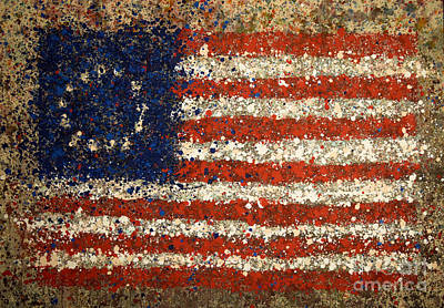 Photograph - Betsy Ross Flag Number One by Michael Glass