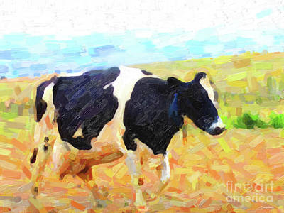 Betsy The Milk Cow Coming Home Art Print by Wingsdomain Art and Photography