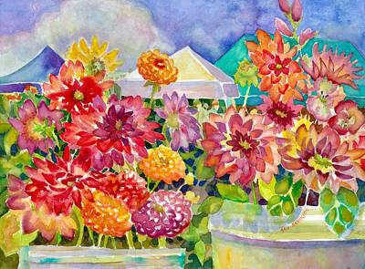 Painting - Betsy's Dahlias IIi by Ann Nicholson