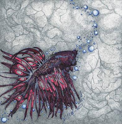 Betta-betta Art Print by Jessica Nunno