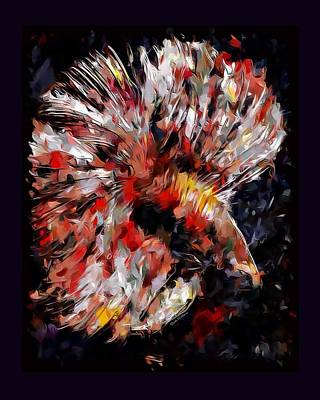 Betta Fish Abstract  Art Print