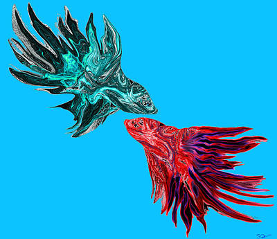 Betta Fish Dancing Art Print