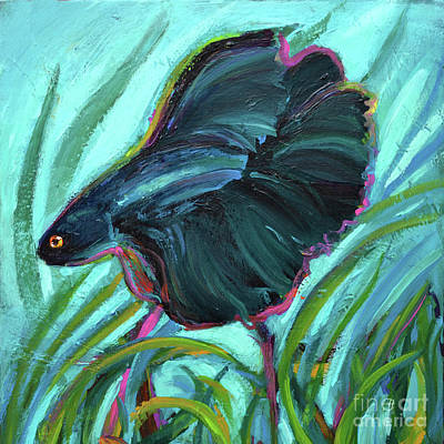 Painting - Betta Fish by Robert Phelps