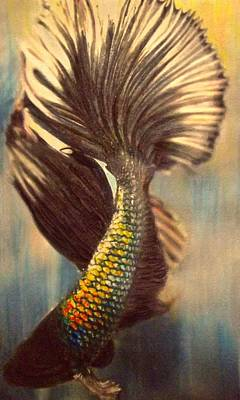 Resilience Painting - Betta Light Play by Cara Frafjord