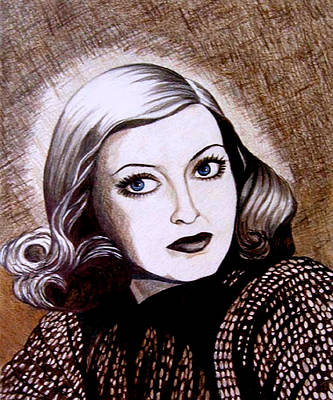 Drawing - Bette Davis 1941 by Tara Hutton