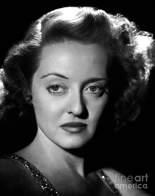 Photograph - Bette Davis Art by Doc Braham