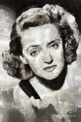 Bette Davis, Hollywood Actress Art Print