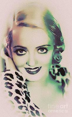 Painting - Bette Davis - Hollywood Great by Ian Gledhill