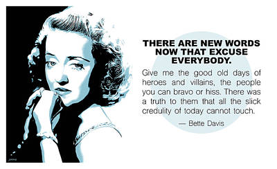 Bette Davis Digital Art - Bette Davis Quote by Greg Joens