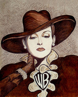 Drawing - Bette Davis The Warner Brothers Years by Tara Hutton