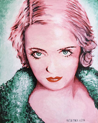 Painting - Bette Davis by Victor Minca