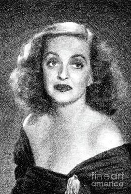 Musicians Royalty-Free and Rights-Managed Images - Bette Davis, Vintage Actress by JS by John Springfield
