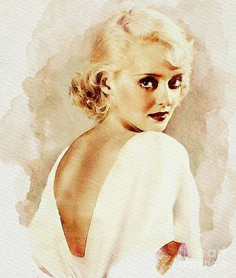 Musicians Royalty-Free and Rights-Managed Images - Bette Davis, Vintage Actress by John Springfield