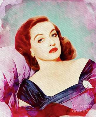 Painting - Bette Davis, Vintage Movie Star by John Springfield