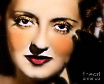 Famous Leading Ladies Painting - Bette Davis by Wbk
