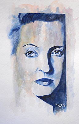 Painting - Bette Davis by William Walts