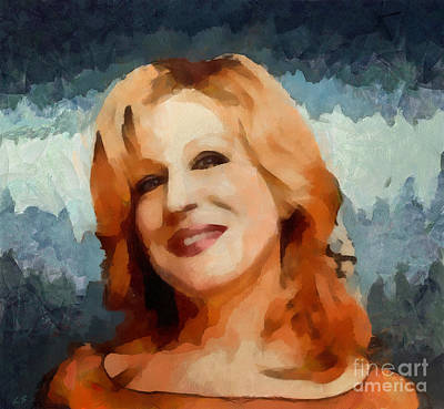 Painting - Bette Midler 01 by Sergey Lukashin