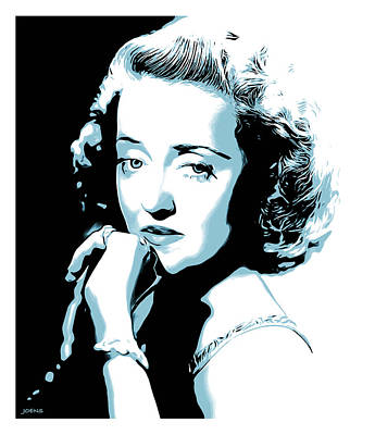 Golden Digital Art - Bette Davis by Greg Joens