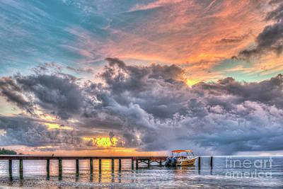 Photograph - Better Belize The Rain Clouds by David Zanzinger