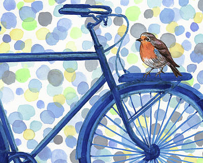 Painting - Better By Bike by Irina Sztukowski
