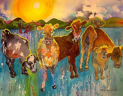 Painting - Better Cows by Esther Woods