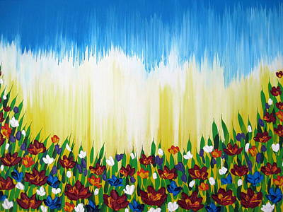 Poppies Field Painting - Better Days by Cathy Jacobs