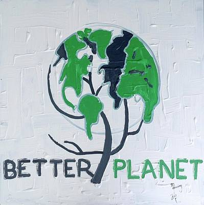 Painting - Better Planet by Richard Sean Manning