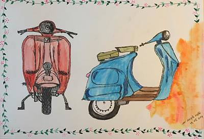 Two Wheeler Painting - Better Ride by Jaya Sanskriti Maharishi