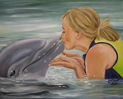 Art Print featuring the painting Better Than Kissing A Frog by Joni McPherson