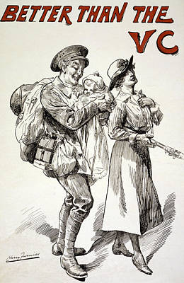 First-family Drawing - Better Than The Vc by Harry Furniss