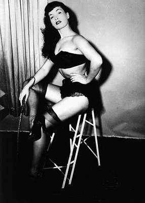 Bettie Page Art Print by American School