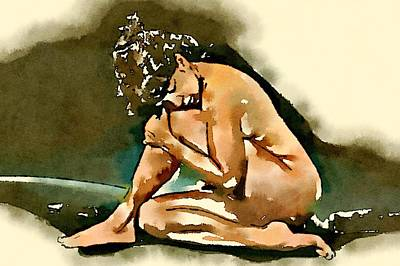 Bettie Page Painting - Bettie Page By Frank Falcon by Frank Falcon